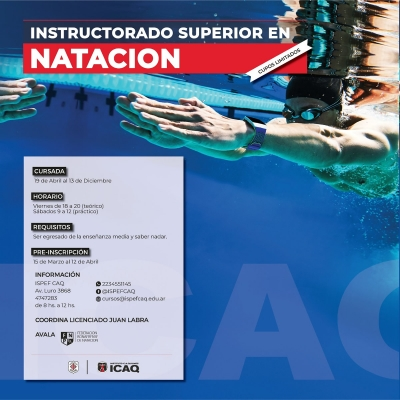 Instructorado superior en natación