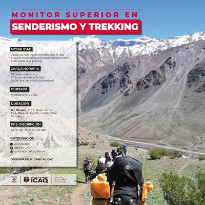 Monitor superior en senderismo y trekking